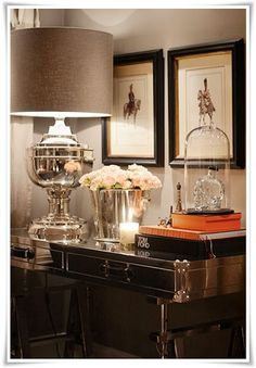 I love this lamp!m not sure I would have chosen a silver lamp silver ice bucket to use on a sil&; I love this lamp!m not sure I would have chosen a silver lamp silver ice bucket to use […] decoration for home elegant Design Entrée, House Design, Foyer Decorating, Interior Decorating, Decorating Ideas, Home Interior, Interior And Exterior, Decoration Hall, Entrance Decor