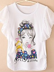 Girl's Cotton Tee , Summer Short Sleeve – USD $ 26.99 Little Girl Fashion, Kids Fashion, Hand Painted Sarees, Girls Sportswear, Miss Girl, Shirt Drawing, Paint Shirts, T Shirt Painting, Girls Tees