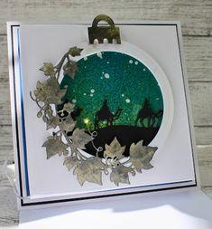 John Next Door: Snowy Background. Christmas Rose, Christmas Nativity, First Christmas, Christmas 2019, Christmas Bulbs, Christmas Stuff, Xmas Crafts, Paper Crafts, Create Christmas Cards