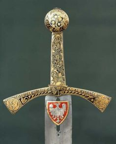 """The sword of destiny has two edges. You are one of them."" - Andrzej Sapkowski.   picture: Polish Szczerbiec- is the coronation sword that was used in crowning ceremonies of most kings of Poland from 1320 to 1764. It is currently on display in the treasure vault of the Royal Wawel Castle in Kraków as the only preserved piece of medieval Polish Crown Jewels."
