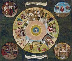 Mesa de los Pecados Capitales El Bosco Óleo sobre tabla, 120 x 150 cm 1505-10 Madrid, Museo Nacional del Prado. Depósito de Patrimonio Nacional