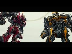 Bumblebee Meets Stinger - Transformers 4 lol this is my favorite part in the whole movie i love it when he say's yeehaw.