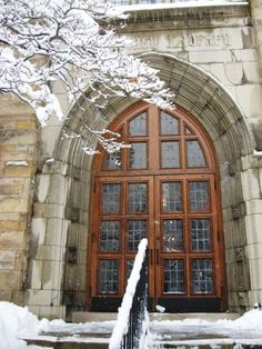 snow day at the library (McCartney Library, Geneva College, Beaver Falls, PA)