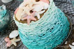 Ocean Waves Ombre Cake - Tutorial - girl. Inspired.