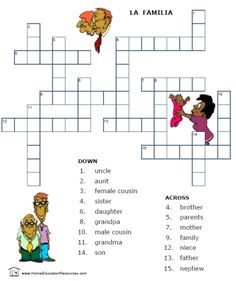 Printable Spanish FREEBIE of the Day: Family vocabulary worksheet packet -- 14 pages from PrintableSpanish.com