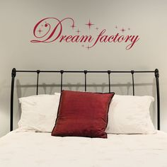 Dream Factory Quote Phrases Wall Decal (31in x 12in )
