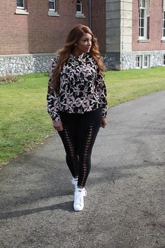 More looks by The Curvy Chapter Saskia: http://lb.nu/user/3270397-The-Curvy-Chapter-S  #edgy #preppy #street #streetstyle #lace #plussize #curvy #flower #print