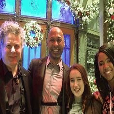 SNL Xmas show with the one and only Lenny Pickett joining my daughter Maya and her friend Gracie for a photo opp.