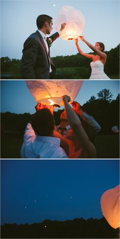 """lantern release """"I am SO happy we did lanterns! It was beautiful and such a fun way to end the night, with an intimate group of friends and family who were still there."""""""