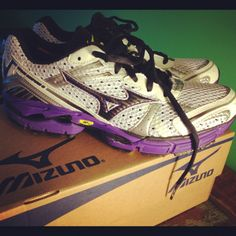 My new shoes given to me compliments of @mizunorunning, who invited me to be a part of the #mezamashiiRunProject #brilliant