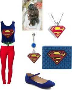 """""""superman outfit"""" by loveboo1234 ❤ liked on Polyvore"""