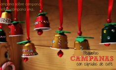 Campanas decorativas con cápsulas de café