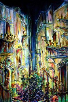 French Quarter Wall Art - Painting - Mardi Gras by Heather Calderon Louisiana Mardi Gras, New Orleans Mardi Gras, Louisiana Art, Mardi Gras Carnival, Mardi Gras Party, New Orleans Art, Mardi Gras Decorations, Christmas Decorations, Fine Art Prints