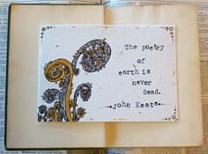 """""""The poetry of earth is never dead.""""  John Keats Poetry of Earth Ink Drawing by ThreeSummerDaysShop, $55.00"""