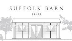 The Suffolk Barn Garden Office Range from Smart Garden Offices, Beautiful Gardens, Extensions, Garden Ideas, Floor Plans, Barn, Range, Studio, Room