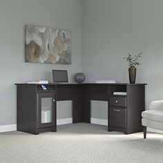 Cabot L Shaped Desk -  http://www.wahmmo.com/cabot-l-shaped-desk/ -  - WAHMMO
