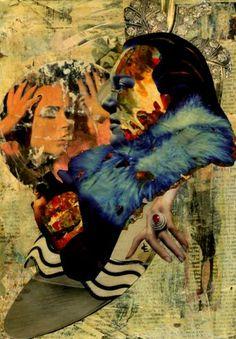 "Saatchi Art Artist CARMEN LUNA; Collage, ""22-Collagemania. Falete."" #art"