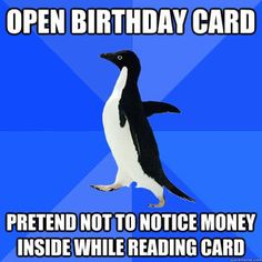Socially Awkward Penguin. I should really just start an individual board for these.