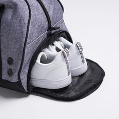 A ventilated shoe pocket for your kicks. Just when you thought your gym bag couldn't get any better. Whether you use it for basketball, soccer, or working out at the gym, the Burner Sport Duffel will fulfill your fitness needs. Purchase yours today at Vooray for only $59.99.