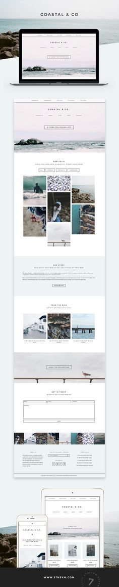 Coastal is a modern and minimalist WordPress theme for today's creative professional, crafted by Station Seven.