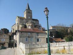 The magnificent, historic town of Montmorillon, La Cité de l'Ecrit or the City of Writing with its medieval centre