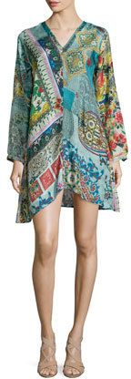 Johnny Was Collection Dreamy Long-Sleeve Printed Tunic, Women's