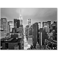 Preston 'New York Skyline 2' Canvas Art ($117) ❤ liked on Polyvore featuring home, home decor, wall art, backgrounds, pictures, black, fillers, canvas wall art, lighted wall art and new york city canvas wall art