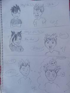 My own draw 😍😍  I'm so proud!  #haikyuu #kuroo #bokuto