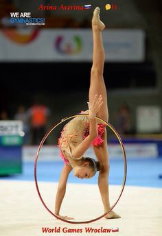 Arina AVERINA (Russia) ~ Hoop @ World Games Wroclaw 22-23/07/ 2017 Photo by We are Gymnastics.