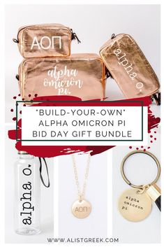 Create the cutest Bid Day gift bundle for your Alpha Omicron Pi new members! #alphaomicronpi #aopi #aoi #bidday #biddaygifts #sororitygifts