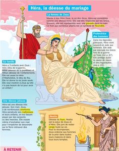 Playbac Presse Digital - Exhibits: Hera, goddess of marriage - Mythology Books, Greek Mythology, Flags Europe, Religion, Cultura General, School Information, Greek Gods And Goddesses, French Class, French Language Learning