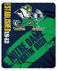 New! Notre Dame Fighting Irish Blanket 50x60 Fleece College Painted Design  #NotreDameFightingIrish