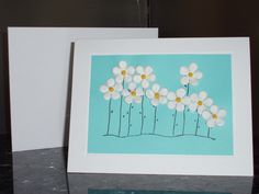 Flowers on Tiffany Blue Card