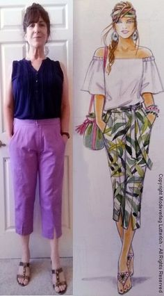 Supplement 305 - Model#202 - Summer 2017 Princess Line Capri Pants   A while back I was offered a free Craftsy class and I...