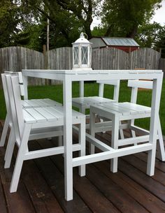 Ana White | Harriet Outdoor Table & Chairs - DIY Projects