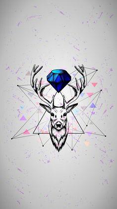 Imagen de art, deer, and diamond