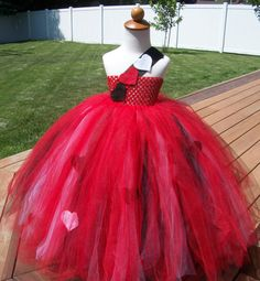Queen of Hearts Costume Tutu Dress by JustaLittleSassShop on Etsy, $60.00
