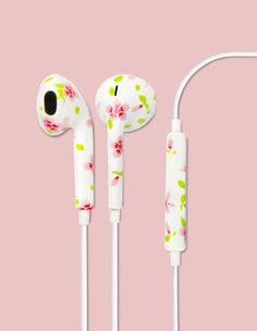 Pink flower earbuds - Fix Apple's Wireless AirPods With This $10 Wire