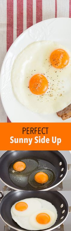 How to make the best sunny side up eggs, with tender fully cooked whites framing a golden yolk that's thick, but still runny.
