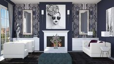 Roomstyler.com - Art Deco Living Gallery Wall, Art Deco, Living Room, Design, Home Decor, Decoration Home, Room Decor, Home Living Room