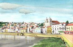 Alcácer do Sal #2 (Portugal) - Aguarelas - Watercolors