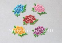 Cloth applique / computer embroidery flower paste / the trumpet Peony hot flower / 038(China (Mainland))