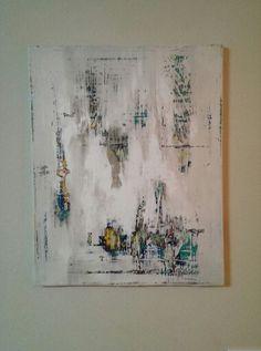 16x20 Modern Abstract Acrylic.