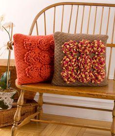 Dahlia Pillows #free #crochet #pattern