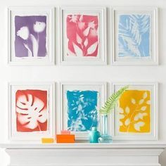 Easy-to-make painted plants. More DIY blank wall solutions: http://www.midwestliving.com/homes/decorating-ideas/easy-blank-wall-solutions/page/20/0#