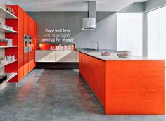 Cozinhas decoradas em cor de laranja ~ Decoração e Ideias