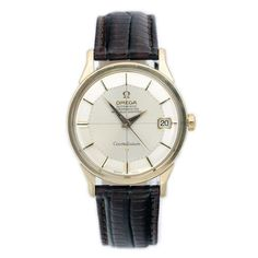 Omega Constellation PiePan, gold on steel from 1966 via MarCels. Click on the image to see more!