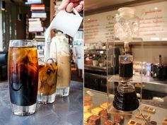 Iced coffee at Harrods