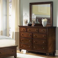 Liberty Furniture Hamilton 9 Drawer Dresser with Mirror Large Dresser, 9 Drawer Dresser, Dresser With Mirror, Dresser As Nightstand, Dresser Ideas, Bedroom Dressers, Bedroom Furniture, Furniture Mattress, Furniture Decor