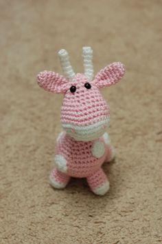 Amigurumi Little PinkWhite Giraffe by ZayaLosya on Etsy, $15.00